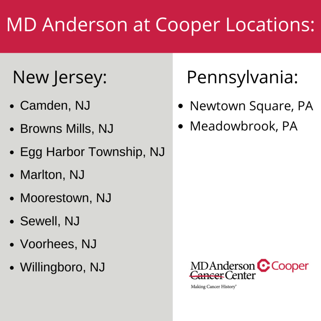 Md Anderson at Cooper Locations